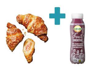 Schinken-Käse-Croissant + Fruit Smoothie