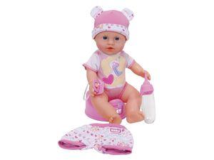 Simba Babypuppe New Born Baby mit Kleidungsset