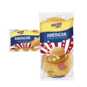 Golden Toast Mega Burger, Hamburger oder Hot Dog Brötchen