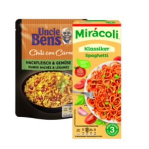 Mirácoli Pastagericht 3 Portionen oder Uncle Ben´s Reisgericht