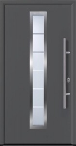 Hörmann Haustür EcoDoor ,  1100 x 2100 mm, DIN links, titan Metallic