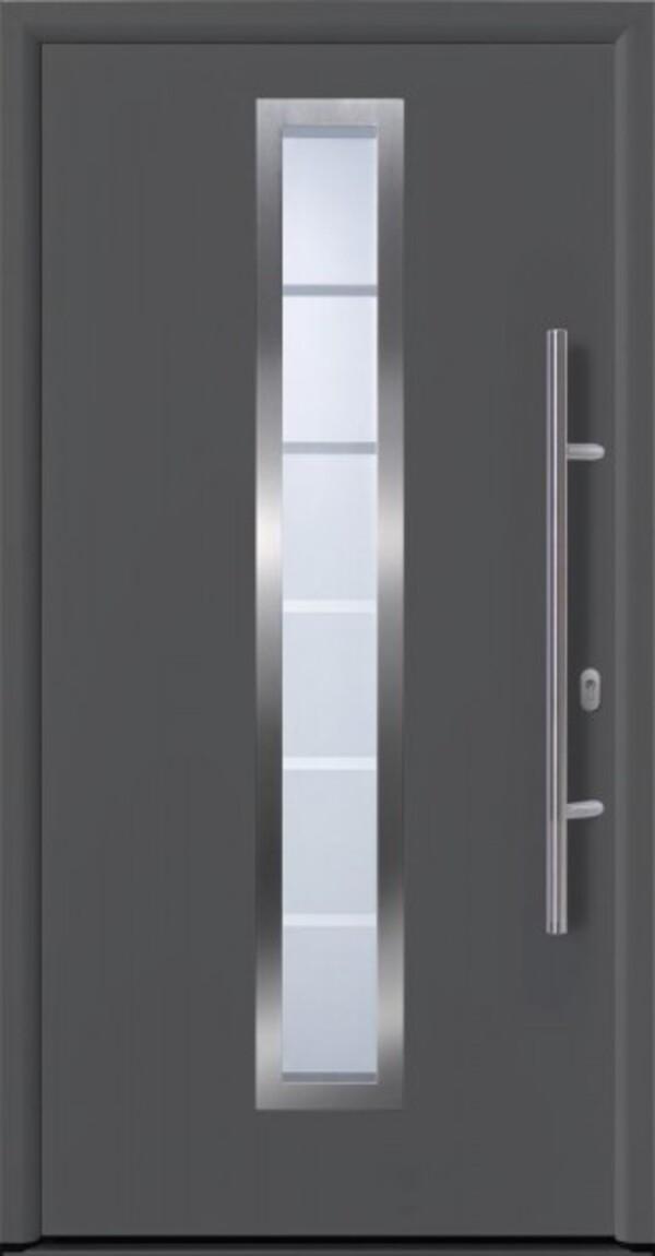Hörmann Haustür EcoDoor ,  1100 x 2100 mm, DIN rechts, titan Metallic