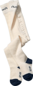 ALANA Baby Strumpfhose, Gr. 74/80, in Bio-Baumwolle und Elasthan, natur, blau