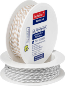 Profissimo Kordel-Set weiß/natur, weiß/grau