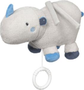 PUSBLU Spieluhr Nashorn, grau, blau