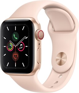 Apple Watch Series 5 (40mm) GPS+4G mit Sportarmband gold/sandrosa