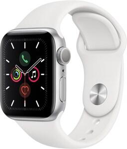 Apple Watch Series 5 (40mm) GPS mit Sportarmband silber/weiß