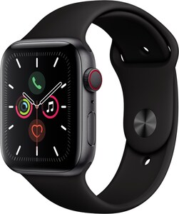 Apple Watch Series 5 (44mm) GPS+4G mit Sportarmband spacegrau/schwarz