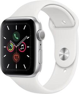 Apple Watch Series 5 (44mm) GPS mit Sportarmband silber/weiß