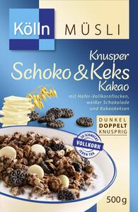 Kölln Müsli Knusper Schoko & Keks Kakao 500 g