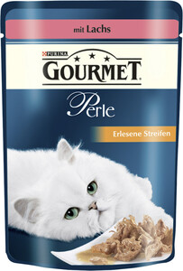 Purina Gourmet Perle Erlesene Streifen mit Lachs Nassfutter für Katzen 85 g
