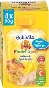 Bebivita Kinder Spaß Vollkorn in Apfel-Banane ab 1 Jahr 4x 90 g