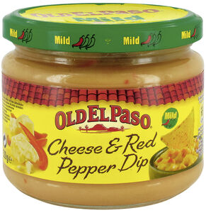 Old El Paso Cheese & Red Pepper Dip Mild 320 g