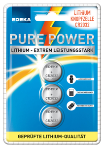 EDEKA Lithium Knopfzellen CR 2032 3 Stück