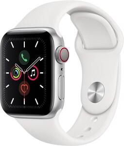 Apple Watch Series 5 (40mm) GPS+4G mit Sportarmband silber/weiß