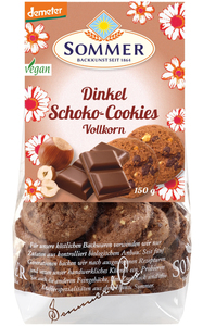 Sommer Demeter Dinkel Schoko Vollkorn-Cookies 150 g