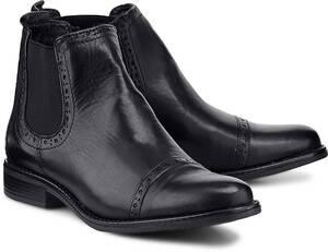 Chelsea-Boots von Drievholt in schwarz für Damen. Gr. 41