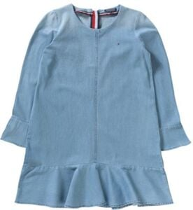 Kinder Jeanskleid light blue denim Gr. 176 Mädchen Kinder