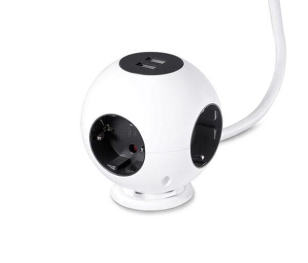 Steckdosenball mit USB-Ladefunktion