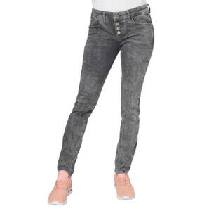 Street One             Jeans, Slim Fit, Waschung, Stretch, Knopfleiste