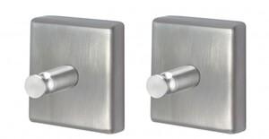 TrendLine Handtuchhaken Simple Cube ,  Edelstahl, Farbe: chrom, 2er-Set