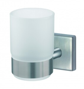 TrendLine Zahnputzbecher Simple Cube ,  Edelstahl gebürstet