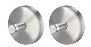 TrendLine Handtuchhaken Simple Round ,  Edelstahl, Farbe: chrom, 2er-Set