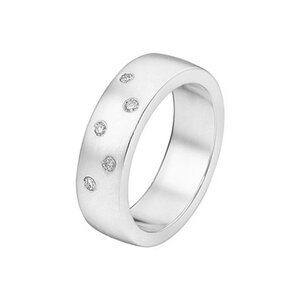 CHRIST Silver Diamonds Damenring 86359537