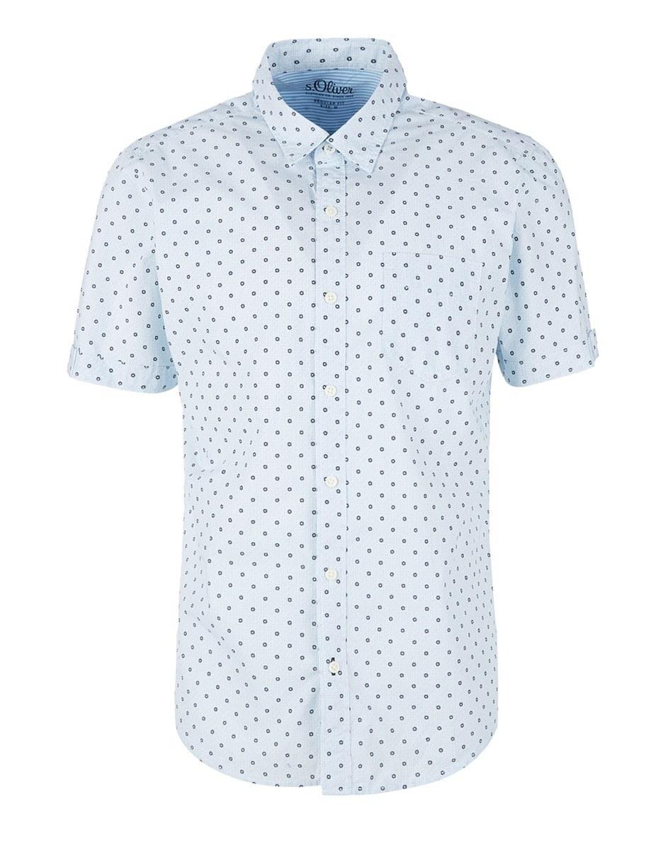 Bild 1 von s. Oliver - Kurzarmhemd mit modeischem Allover-Print