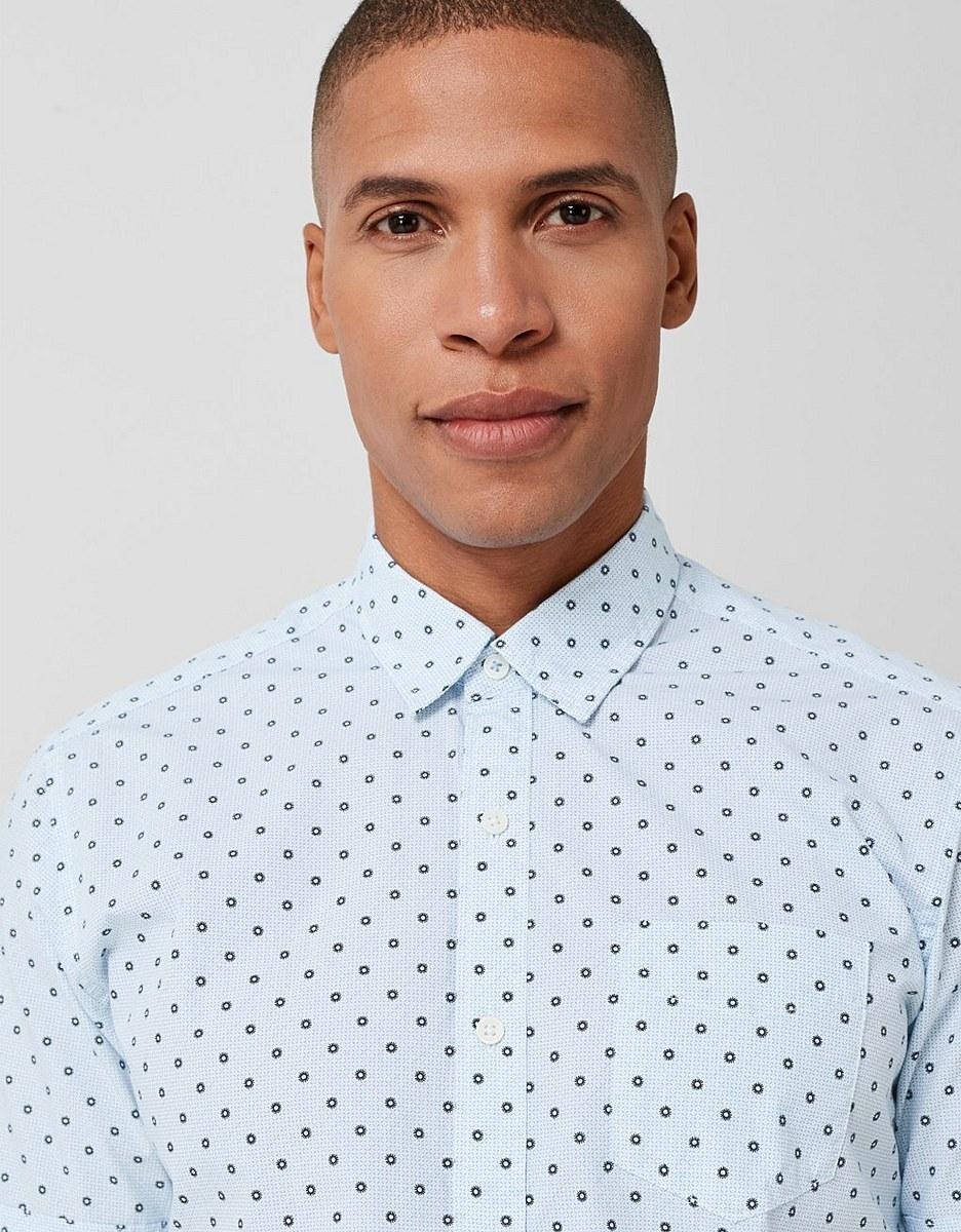Bild 4 von s. Oliver - Kurzarmhemd mit modeischem Allover-Print