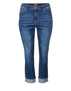 THEA - 7/8 Jeanshose mit elastischem Bund