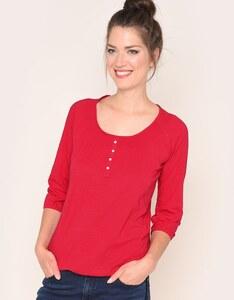 Via Cortesa - Shirt mit Knopfleiste aus reiner Baumwolle