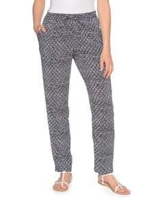 My Own - leichte Hose im Pyjama-Style mit All-Over-Print aus reiner Viskos