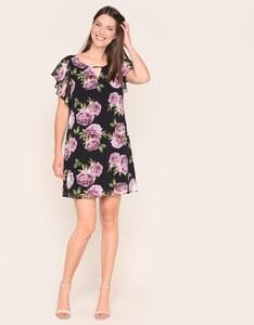 My Own - Chiffon-Kleid mit Capeärmeln und Rosendruck