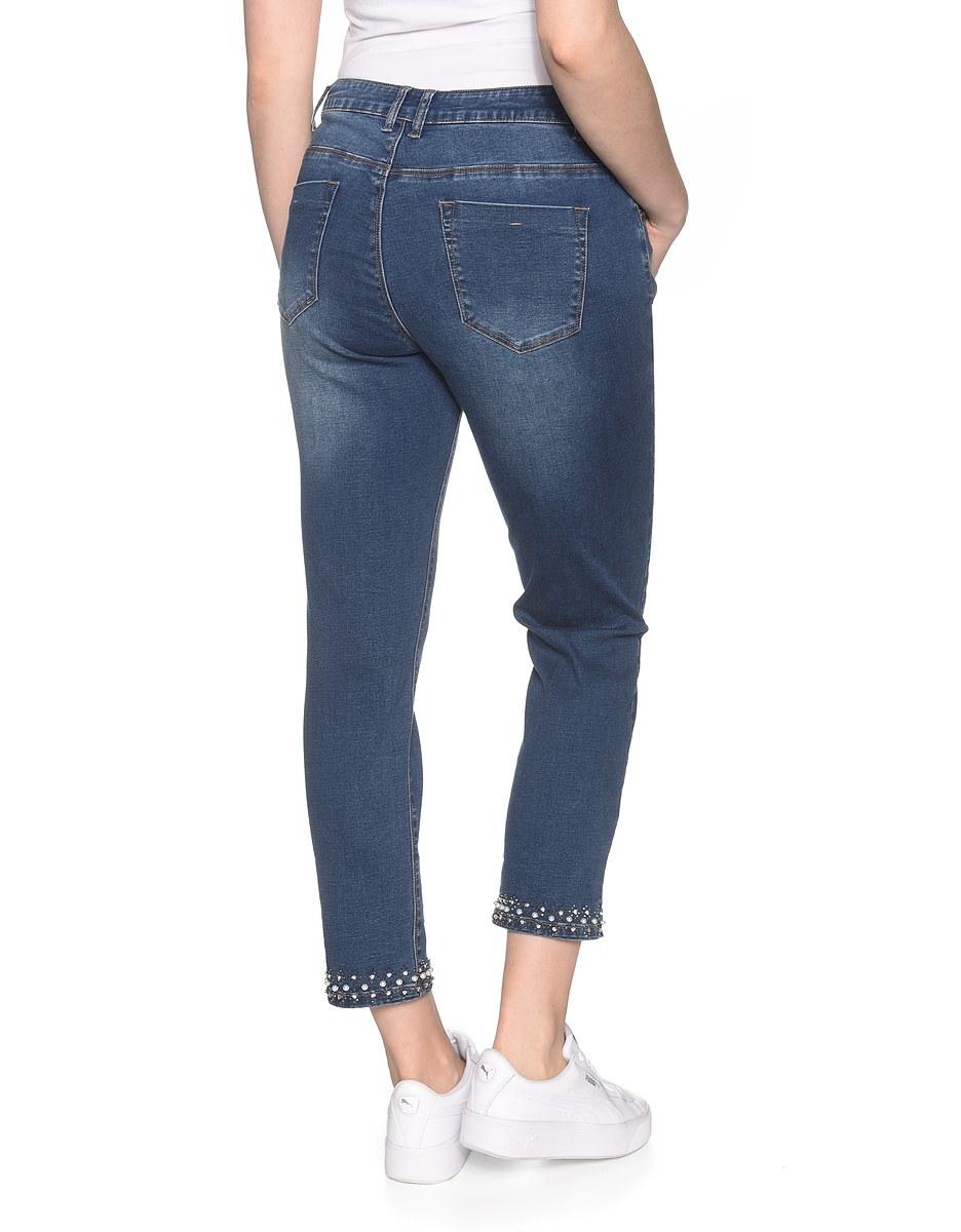Bild 2 von My Own - 7/8 Jeans mit leichtem Crasheffekt und Perlensaum