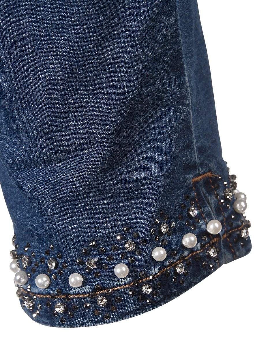 Bild 4 von My Own - 7/8 Jeans mit leichtem Crasheffekt und Perlensaum