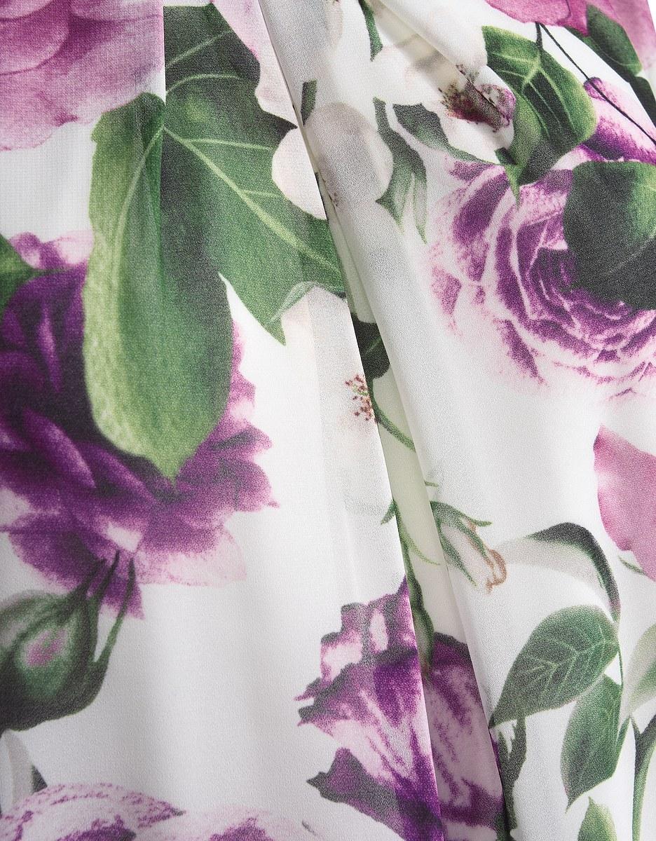 Bild 5 von My Own - Chiffon-Blusentop mit Rosendruck und Spitzensaum