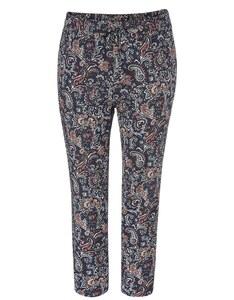 THEA - gemusterte Pyjamahose mit elastischem Bund