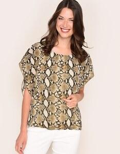 Viventy - Chiffon-Blusenshirt mit Flügelärmeln und Schlangenmuster