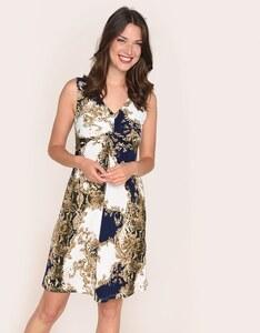 Viventy - gemustertes Jersey-Kleid mit Knoten