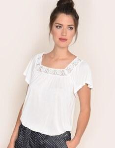 Via Cortesa - Shirt mit Carréeausschnitt und Spitze