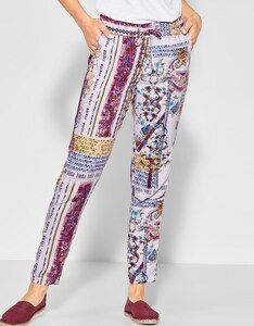 CECIL - Hose Chelsea mit allover Patchworkdruck