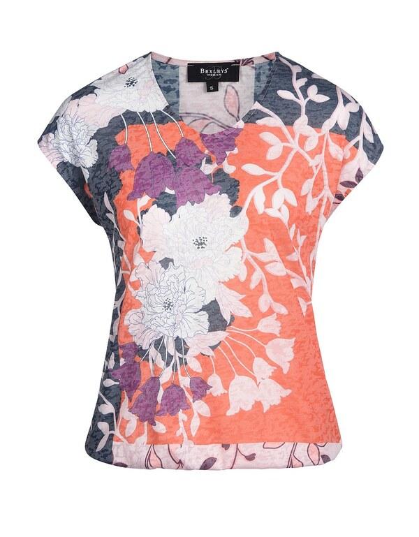Bexleys woman - Farbbrilliantes Shirt mit Rundhals
