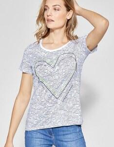 CECIL - Streifenshirt mit Herz-Print