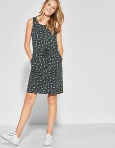 CECIL - Jersey-Kleid mit Feder-Print