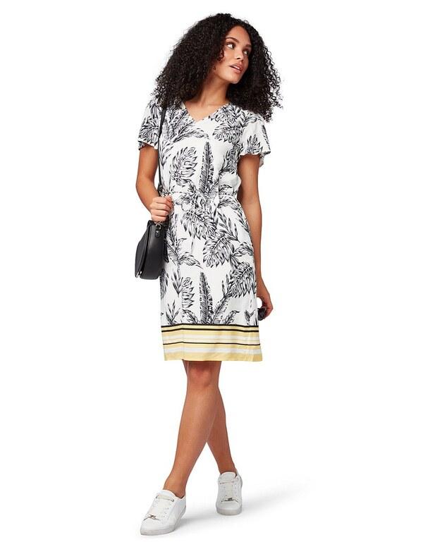 tom tailor - kleid mit ganzflächigem print von adler ansehen!