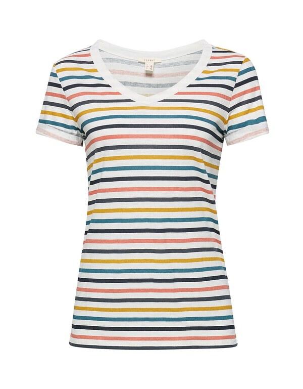 Esprit - Print-Shirt mit Leinen