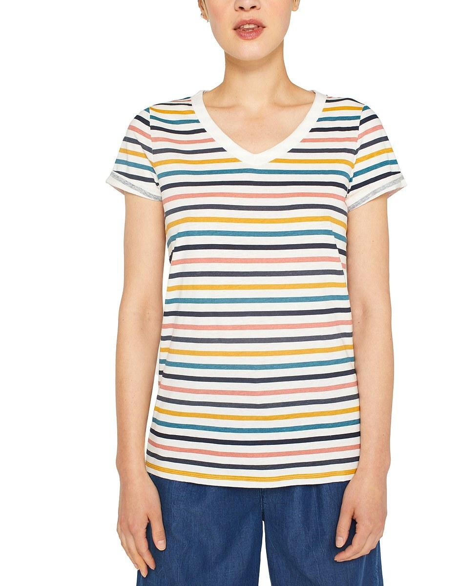 Bild 2 von Esprit - Print-Shirt mit Leinen