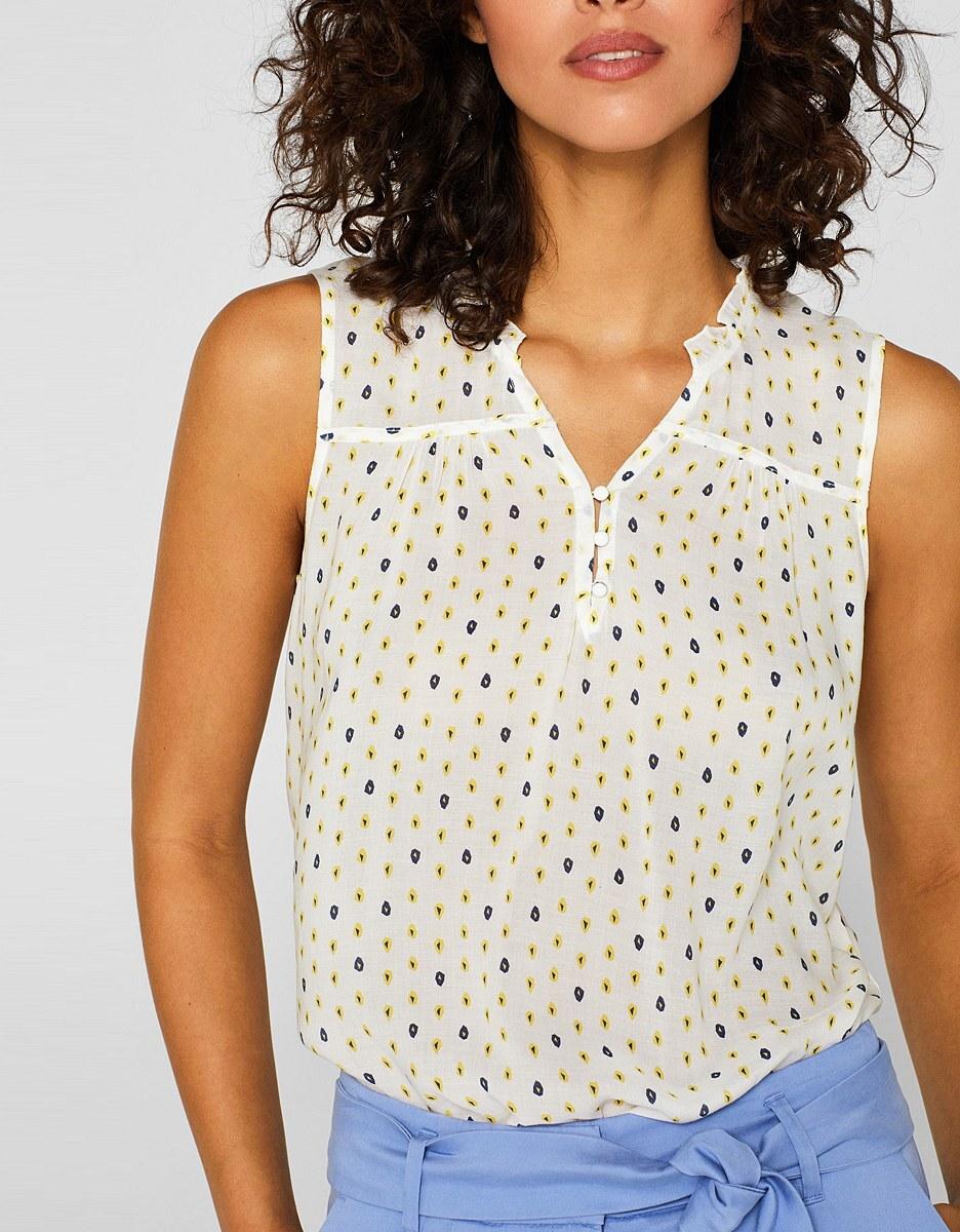 Bild 3 von Esprit - Blusentop mit Rüschen und dekorativem Print