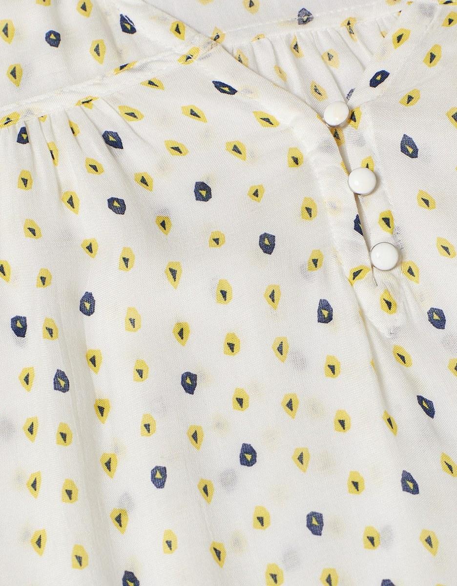 Bild 5 von Esprit - Blusentop mit Rüschen und dekorativem Print